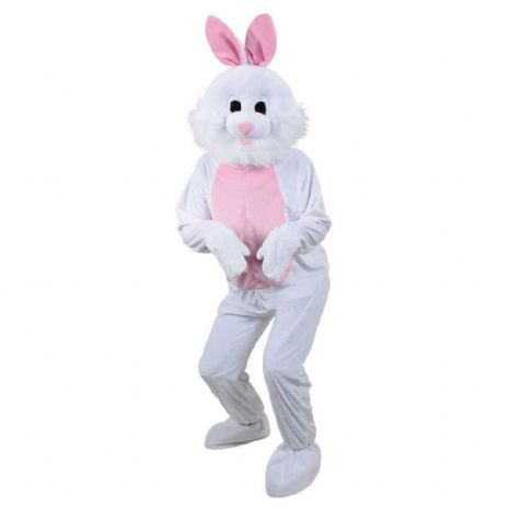 Adults Mascot White Easter Bunny Costume for Rabbit Animals Easter Fancy Dress